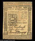 Colonial Notes:Pennsylvania, Pennsylvania October 1, 1773 50s Choice About New. A nice lookingexample of this relatively common issue. These October 177...