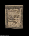 Colonial Notes:Pennsylvania, Pennsylvania October 25, 1775 1s Choice New. A Gem in every respect but the centering: the margins just touch the design in ...