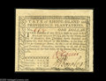 Colonial Notes:Rhode Island, Rhode Island July 2, 1780 $1 Superb Gem New. A second cut sheet.These all share serial number 668. Like the sheet above, th...