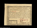 Colonial Notes:Rhode Island, Rhode Island July 2, 1780 $5 Very Choice New. The face has twonormal and two extra broad margins. The back is slightly cut ...