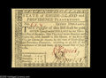 Colonial Notes:Rhode Island, Rhode Island July 2, 1780 $7 Very Choice New. Slightly cut in atthe bottom of the back....