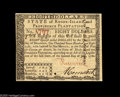 Colonial Notes:Rhode Island, Rhode Island July 2, 1780 $8 Very Choice New. The second highestdenomination from the set and a lovely note....