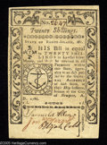 Colonial Notes:Rhode Island, Rhode Island May 1786 20s Choice About New. This well signed, wellmargined note is a single light centerfold away from the ...