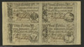 Colonial Notes:South Carolina, South Carolina April 10, 1778 Uncut Sheet of Four About New. The sheet has one each of the 2s6d, 3s9d, 5s, and 10s notes. Im...