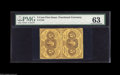 Fractional Currency:First Issue, Fr. 1228 5¢ First Issue Vertical Pair PMG Choice Uncirculated 63. Perforated Fractional pairs are very rare and generally av...