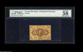 Fractional Currency:First Issue, Fr. 1228 5¢ First Issue PMG Choice About Uncirculated 58. Nicely margined and very well perforated....