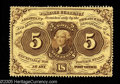Fractional Currency:First Issue, Fr. 1229 5c First Issue Very Choice New. This no-monogram perforated 5¢ is just a touch of centering away from the full gem ...