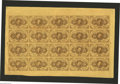 Fractional Currency:First Issue, Fr. 1230 5¢ First Issue Uncut Sheet of Twenty Superb Gem New. Oneof the nicest First Issue sheets that we have had the priv...