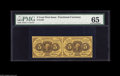 Fractional Currency:First Issue, Fr. 1230 5¢ First Issue Horizontal Pair PMG Gem Uncirculated 65. Abright pair, with original embossing that is easily seen ...