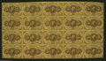 Fractional Currency:First Issue, Fr. 1230 5¢ First Issue Uncut Sheet of Twenty Extremely Fine. Avery bright complete sheet that has no soil at all, but has ...