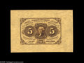 Fractional Currency:First Issue, Fr. 1231SP 5¢ First Issue Wide Margin Pair Superb Gem New. Agorgeous pair with both the face and the back having two full c...(2 items)