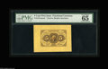 "Fractional Currency:First Issue, Fr. 1231SP 5¢ First Issue Wide Margin Pair PMG Gem Uncirculated 65.The Back is comment free, the Face bears the comment ""si... (2items)"