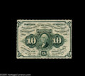 Fractional Currency:First Issue, Fr. 1240 10¢ First Issue Very Choice New. Deep, full perforations all the way around, this would be a Gem New note if the ba...
