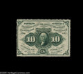 Fractional Currency:First Issue, Fr. 1241 10c First Issue Very Choice New. Perfect original paper surfaces, full, deep perforations all the way around and ex...