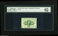 Fractional Currency:First Issue, Fr. 1241 10¢ First Issue PMG Uncirculated 62. Deep bold perforations all the way around that are a bit close at the top. Thi...