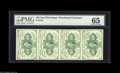 Fractional Currency:First Issue, Fr. 1242 10¢ First Issue Strip of Four PMG Gem Uncirculated 65. Awell margined, most attractive vertical strip of four....