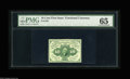 Fractional Currency:First Issue, Fr. 1242 10¢ First Issue PMG Gem Uncirculated 65. Super print quality and bold colors....