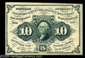 Fractional Currency:First Issue, Fr. 1243 10c First Issue Very Choice New. Fresh and original, nomonogram, straight-edge note that comes quite close to the ...