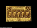 Fractional Currency:First Issue, Fr. 1279 25¢ First Issue Choice New. Fully perforated all around,and beautifully centered on the back. The face centering i...