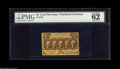 """Fractional Currency:First Issue, Fr. 1279 25¢ First Issue PMG Uncirculated 62. Fully perforated. With the comment, """"Vivid details.""""..."""