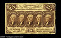 Fractional Currency:First Issue, Fr. 1280 25c First Issue Very Choice New. Perforated on three sides with just a few perfs present at the left. The back cent...