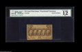 Fractional Currency:First Issue, Fr. 1281 25¢ First Issue Inverted Back PMG Fine 12. About a dozenexamples of this Invert are known. This has the appearence...