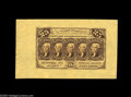 Fractional Currency:First Issue, Fr. 1282SP 25¢ First Issue Wide Margin Pair Superb Gem New. The back is fully margined, with two entire cutting guides; the ... (2 items)