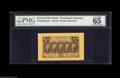 """Fractional Currency:First Issue, Fr. 1282SP 25¢ First Issue Narrow Margin Pair. PMG has graded theface 65 and the back 64. Both share the comment """"margins t... (2items)"""