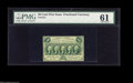 Fractional Currency:First Issue, Fr. 1311 50¢ First Issue PMG Uncirculated 61. Nicely perforated onthree sides but straight on the left. A much scarcer numb...