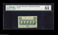 Fractional Currency:First Issue, Fr. 1312 50¢ First Issue PMG Choice Uncirculated 64. A near-Gemexample of this straight edge, with-monogram Fifty....