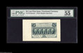 "Fractional Currency:First Issue, Fr. 1313SP 50¢ First Issue Wide Margin Pair. The Face is graded 55 by PMG with the comments ""vivid details, jumbo left margi... (2 items)"