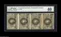 Fractional Currency:Second Issue, Fr. 1232 5¢ Second Issue Vertical Strip CGA Extremely Fine 40. Some handling and a fold between the two pairs....
