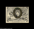 Fractional Currency:Second Issue, Fr. 1235 5¢ Second Issue New. Both the face and the back are centered high and are slightly cut into the design at the top, ...