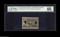 Fractional Currency:Second Issue, 25¢ Second Issue Experimental PMG Gem Uncirculated 66. The first of three identical 66 fractional experimentals. This is the...