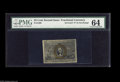 "Fractional Currency:Second Issue, Fr. 1286 25¢ Second Issue Inverted ""S"" PMG Choice Uncirculated 64. Relatively common as an Experimental, but very rare as a ..."