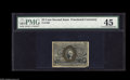 Fractional Currency:Second Issue, Fr. 1289 25¢ Second Issue PMG Choice Extremely Fine 45. There is a large corner tip missing, but it's large due solely to th...