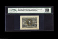 Fractional Currency:Second Issue, Fr. 1314SP 50¢ Second Issue Narrow Margin Pair PMG Gem Uncirculated 66. A lovely matching pair with medium-wide margins. Bot... (2 items)