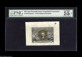 """Fractional Currency:Second Issue, Fr. 1314SP 50¢ Second Issue Wide Margin Pair. PMG has graded the Back 58 and the Face Net 55. The face carries the comment """"... (2 items)"""