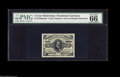 "Fractional Currency:Third Issue, Fr. 1236/8SP 5¢ Third Issue Narrow Margin Set of Three. The face is a PMG 66 with the comment ""margins trimmed from a Wide M... (3 items)"