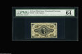 """Fractional Currency:Third Issue, Fr. 1251 10¢ Third Issue PMG Choice Uncirculated 64. The note carries two positive comments """"great embossing"""" and """"vivid det..."""