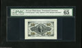 Fractional Currency:Third Issue, Fr. 1251/5SP 10¢ Third Issue Wide Margin Set of Three PMG Gem Uncirculated. The face, the red and the green backs are all fu... (3 items)