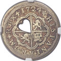 Gibraltar: British Colony. George III Type II countermarked Quarter Dollar or 2 Bits ND (1761-64) VG Details (Scratches)...