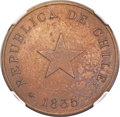 "Chile, Chile: Republic copper ""Thick Flan"" Proof Centavo 1835 PR64 BrownNGC,..."