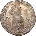 Netherlands:Gelderland, Netherlands: Gelderland. Provincial 48 Stuivers or Ducat 1674 MS62NGC,...