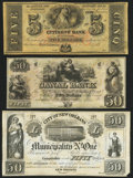 Obsoletes By State:Louisiana, New Orleans, LA- Citizens' Bank of Louisiana $5 18__ Remainder;. New Orleans, LA- New Orleans Canal & Banking Compy. $50... (Total: 3 notes)
