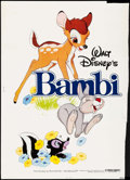 "Movie Posters:Animation, Bambi & Other Lot (Buena Vista, R-1982). Poster (28.75"" X 40"") & One Sheet (27"" X 40"") DS. Animation.. ... (Total: 2 Items)"