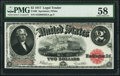 Large Size:Legal Tender Notes, Fr. 60 $2 1917 Legal Tender PMG Choice About Unc 58.. ...