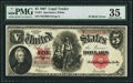 "Large Size:Legal Tender Notes, Fr. 91 $5 1907 ""PCBLIC"" Error Legal Tender PMG Choice Very..."