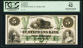 Canadian Currency, St. Stephen, NB- St. Stephens Bank $5 July 1, 1860 Ch. # 675-18-08PProof.. ...