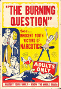 "Movie Posters:Exploitation, Reefer Madness (R-1940s). One Sheet (27.5"" X 41"") AlternativeTitle: The Burning Question.. ..."